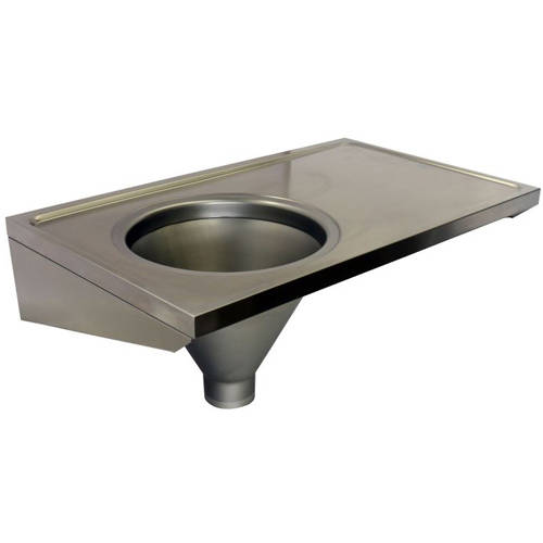 Additional image for Hospital Sluice Sink With Plain Top (LH, Stainless Steel).