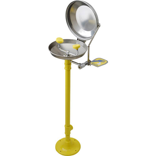 Additional image for Free Standing Eye / Face Wash Station With Lid (S Steel).