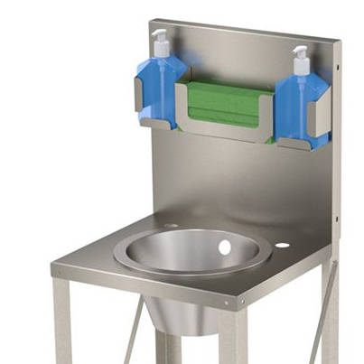 Additional image for Freestanding Wash Basin Unit With Round Bowl (Stainless Steel).
