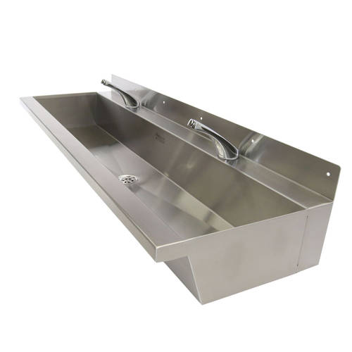 Additional image for Wall Mounted Wash Trough 1200mm (Stainless Steel).