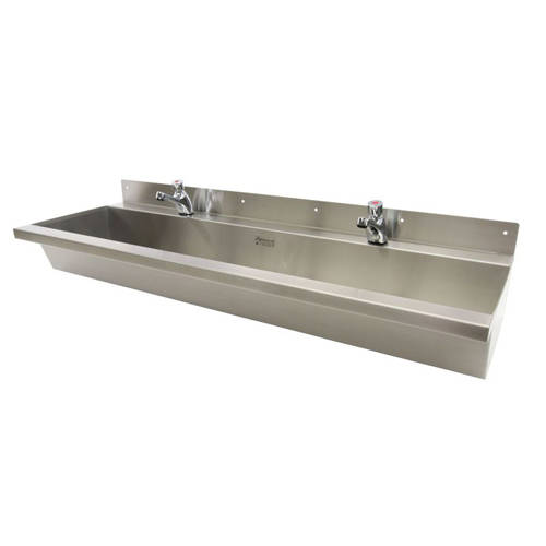 Additional image for Wall Mounted Wash Trough 2400mm (Stainless Steel).