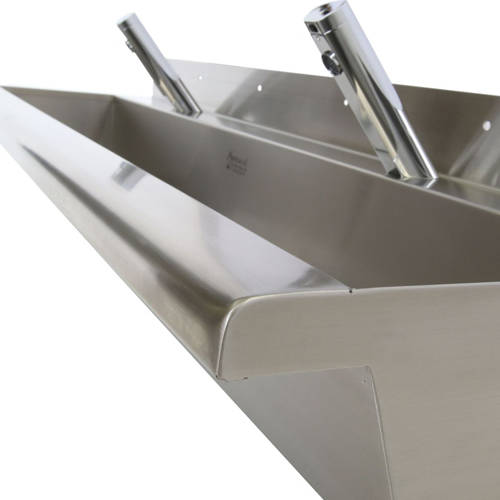 Additional image for Compact Wall Mounted Wash Trough 2100mm (Stainless Steel).