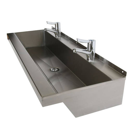 Additional image for Wall Mounted Wash Trough 2000mm (4 TH, S Steel).
