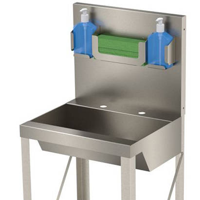 Additional image for Freestanding Hospital Wash Basin Unit (Stainless Steel).