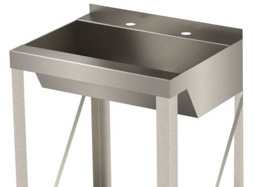 Additional image for Freestanding Wash Basin With Trough Bowl (Stainless Steel).