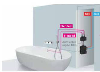 Additional image for Digital Bath Valve Kit 11 With Bath Filler & Shower Kit (HP, Combi).