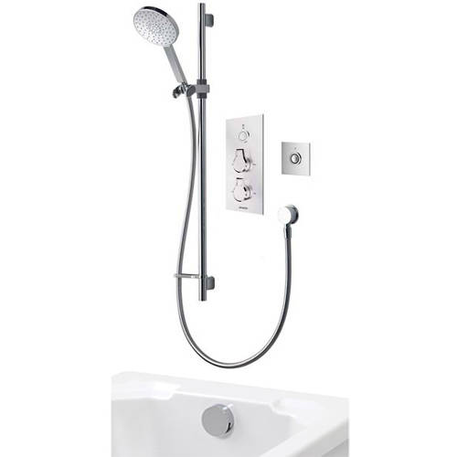Additional image for Digital Shower Pack 95 (Chrome Astratta Handles, GP).