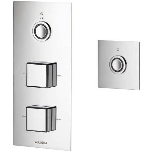 Additional image for Digital Shower Pack 75 (Chrome Piazza Handles, GP).