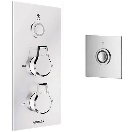 Additional image for Digital Shower Pack 37 (Chrome & White Astratta Handles, GP).