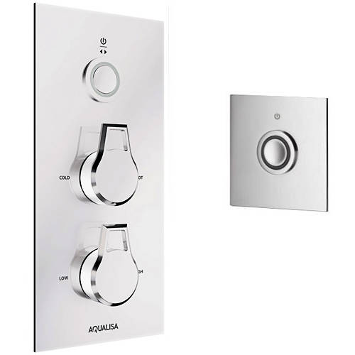 Additional image for Digital Shower Pack 74 (Chrome & White Astratta Handles, HP).