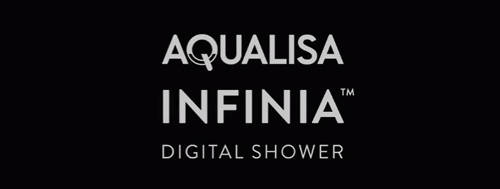 Additional image for Digital Shower Pack 65 (Chrome & White Piazza Handles, GP).
