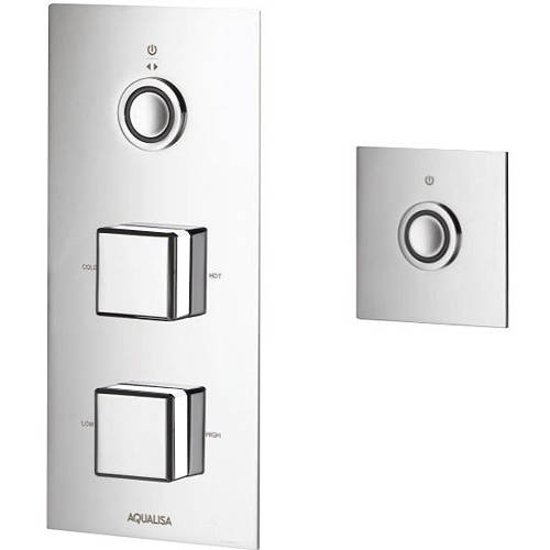 Additional image for Digital Shower Pack 77 (Chrome & White Piazza Handles, GP).
