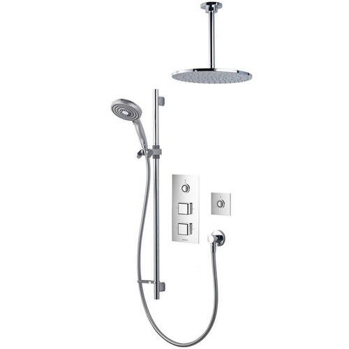 Additional image for Digital Shower Pack 78 (Chrome & White Piazza Handles, HP).