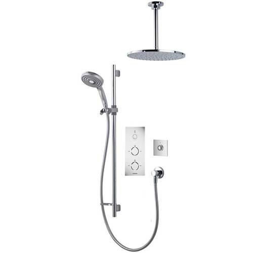 Additional image for Digital Shower Pack 81 (Chrome & White Tondo Handles, GP).
