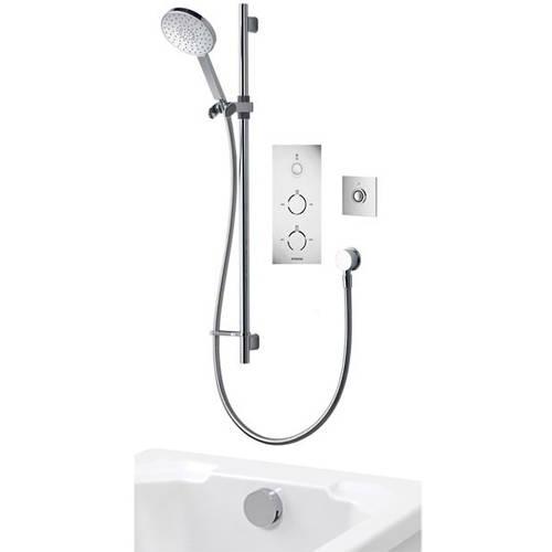 Additional image for Digital Shower Pack 93 (Chrome & White Tondo Handles, GP).