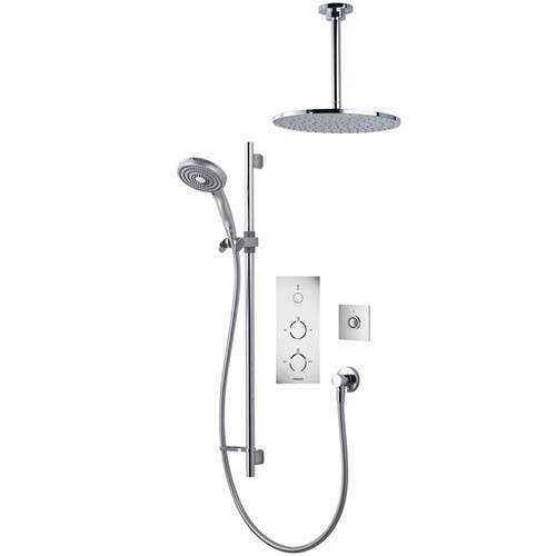 Additional image for Digital Shower Pack 82 (Chrome & White Tondo Handles, HP).