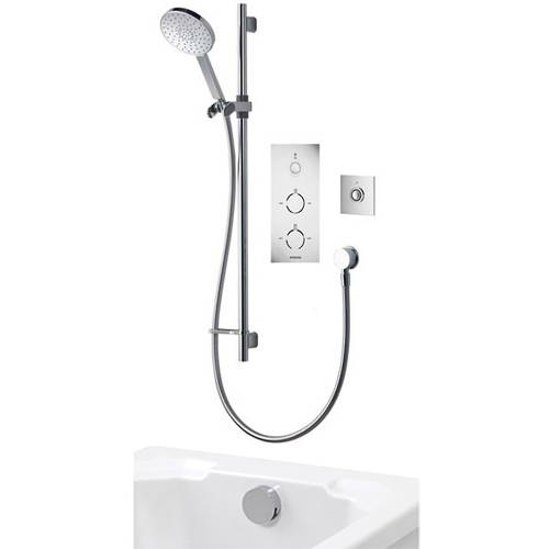 Additional image for Digital Shower Pack 94 (Chrome & White Tondo Handles, HP).