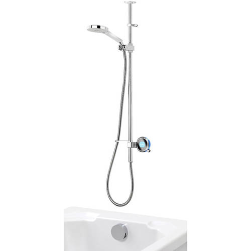 Additional image for Q Smart 26BL, Ceiling Fed Rail Kit, Bath Fill & Blue Accent (Gravity).