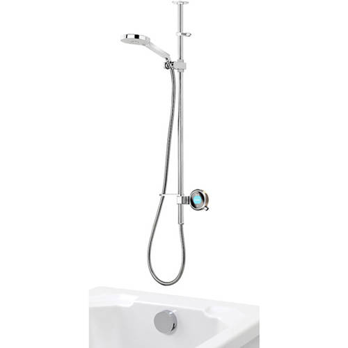Additional image for Q Smart 26N, Ceiling Fed Rail Kit, Bath Fill & Nickel Accent (Gravity).