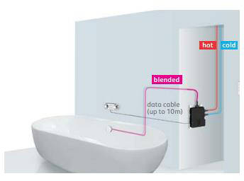 Additional image for Digital Smart Bath Filler Valve With LED Light (HP, Combi).