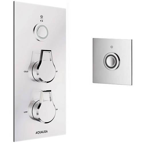 Additional image for Digital Shower & Remote (Chrome Astratta Handles, GP).