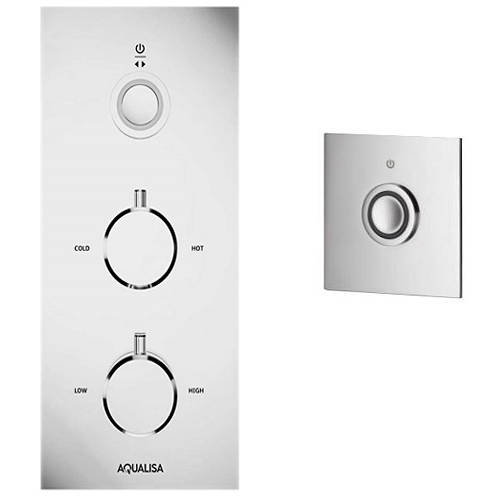 Additional image for Digital Shower & Remote (Chrome & White Tondo Handles, GP).