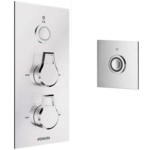 Additional image for Digital Shower & Remote (Chrome Astratta Handles, HP).