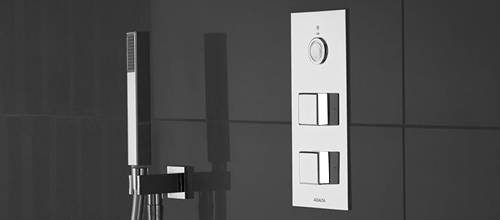 Additional image for Digital Shower & Remote (Chrome & White Piazza Hand, HP).