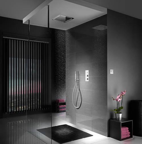 Additional image for Digital Shower, Remote (Chrome & White Astratta Handles, GP).