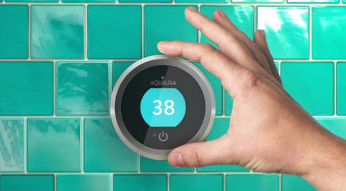Additional image for Smart Shower With 1 Outlet, Remote & Nickel Accent (Gravity).