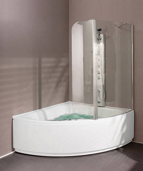 Additional image for Hinged Bath Screen (Right Handed).  1230x1500mm.