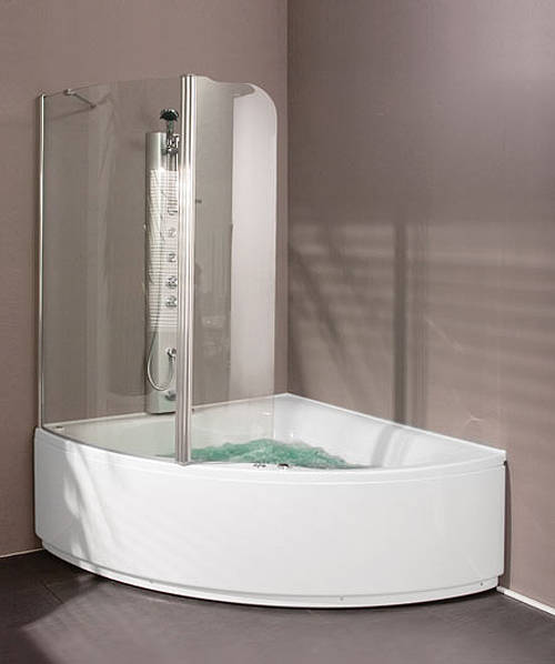 Additional image for Hinged Bath Screen (Right Handed).  1310x1500mm.