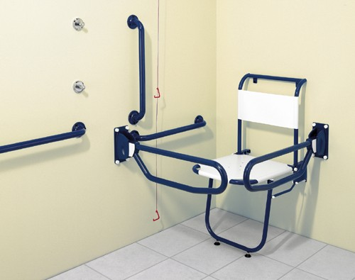 Additional image for Changing Room Pack With Blue Grab Rails.