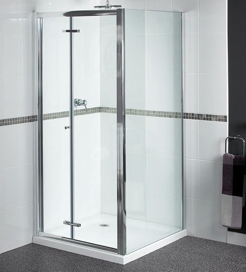 Additional image for Shower Enclosure With 900mm Bi-Fold Door. 900x800mm.