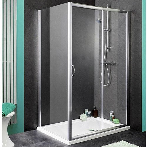 Additional image for Shower Enclosure With 1100mm Sliding Door. 1100x800mm.
