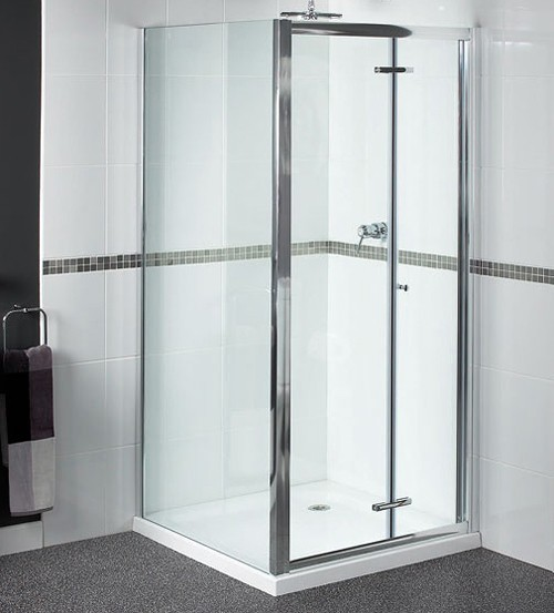 Additional image for Shower Enclosure With 900mm Bi-Fold Door. 900x700mm.