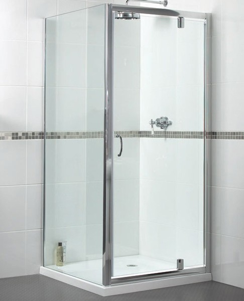 Additional image for Shower Enclosure With 900mm Pivot Door. 900x700mm.
