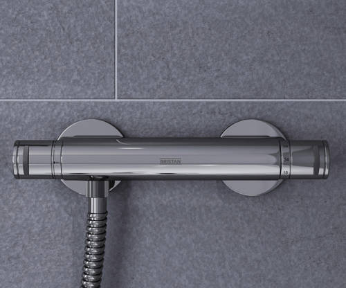 Additional image for Exposed Bar Shower Valve With Dual Controls (1 Outlet, Chrome).