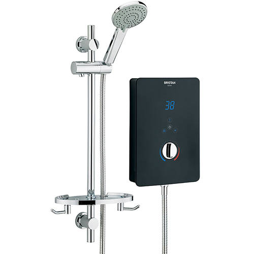 Additional image for Electric Shower With Digital Display 10.5kW (Gloss Black).