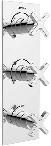Additional image for Dual Thermostatic Shower Valve With Diverters & Stopcock.