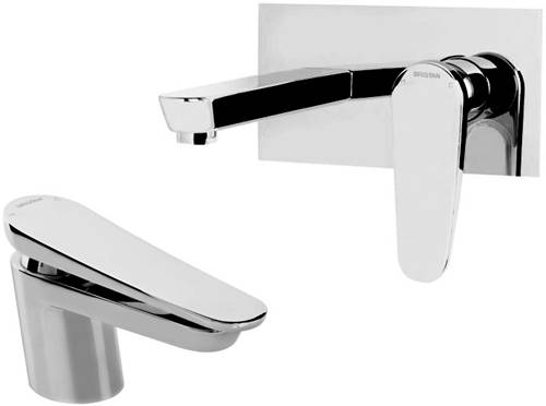 Additional image for Mono Basin & Wall Mounted Bath Filler Tap Pack (Chrome).