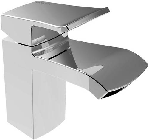 Additional image for Basin Mixer & 1 Hole Bath Filler Tap Pack (Chrome).