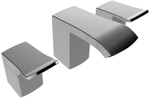Additional image for Mono Basin & 3 Hole Bath Filler Tap Pack (Chrome).