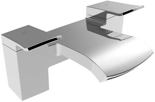 Additional image for 3 Hole Wall Mounted Basin & Bath Filler Tap Pack (Chrome).