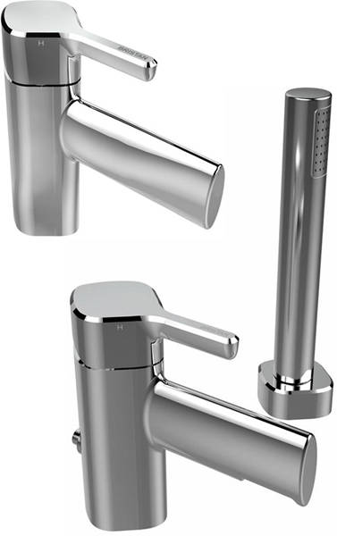 Additional image for Mono Basin Mixer & 2 Hole Bath Shower Mixer Tap Pack (Chrome).