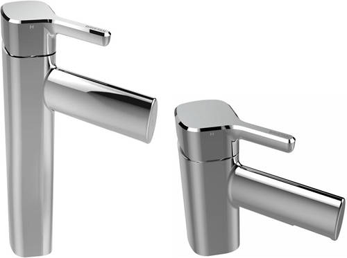 Additional image for Tall Mono Basin Mixer & 1 Hole Bath Filler Tap Pack (Chrome).