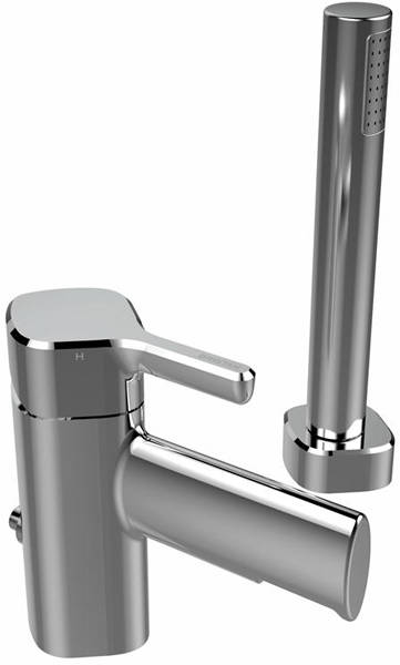 Additional image for Tall Basin & 2 Hole Bath Shower Mixer Tap Pack (Chrome).