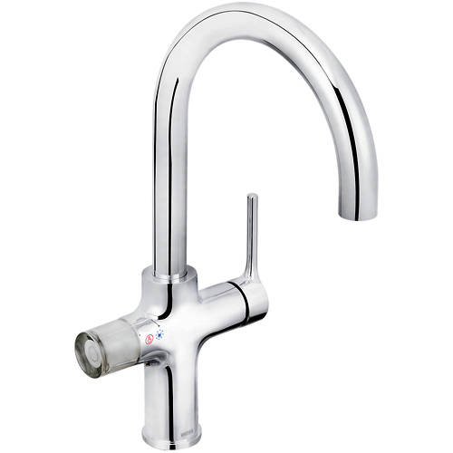 Additional image for 4 In 1 Instant Boiling Water Kitchen Tap (Chrome).