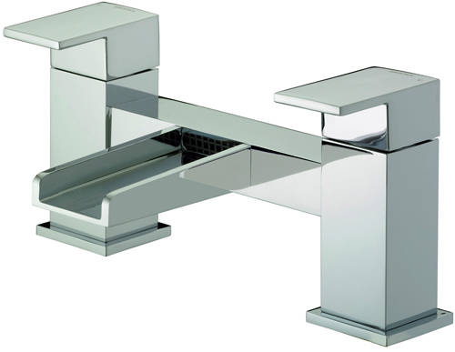 Additional image for Waterfall Tall Basin & Bath Filler Tap Pack (Chrome).