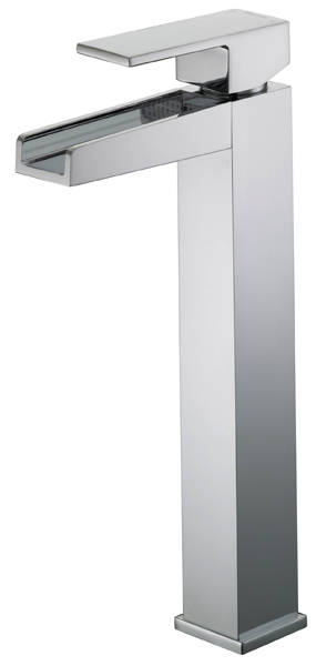 Additional image for Waterfall Tall Basin Mixer Tap (Chrome).